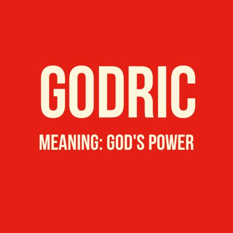 Godric - Baby Names Inspired By 'Harry Potter' - Photos