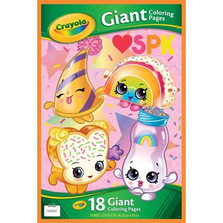 Crayola Shopkins Giant Coloring Pages Gift For Kids 18 Pages Walmart Com Crayola Gifts For Kids Coloring Pages