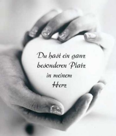 You have a very special place in my heart <3 Du hast ein ganz besonderen Platz in meinem Herz