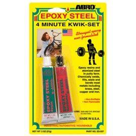 Abro Epoxy Steel 4 Minute Kwik Set Kwik Epoxy Steel