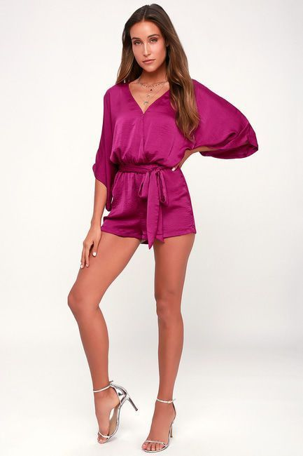 b352322258f5 AIN T IT GRAND MAGENTA ROMPER ❣ 🏋🏿 ♀ 🐱 For more styles like this.   streetwear  whattowear  menstyle  jeans  limitededtion
