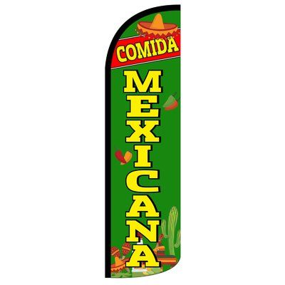 Neoplex Comida Mexicana Polyester 138 X 38 In Feather Banner Wayfair Comida Mexicana Feather Banners Neoplex