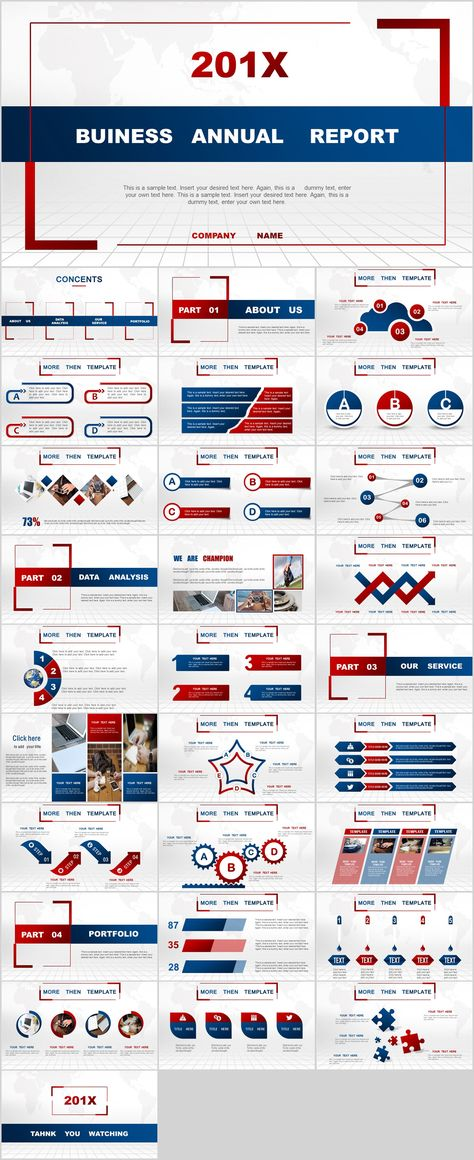 Multicolor Annnual Report Powerpoint Templates Download Powerpoint