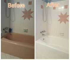 step by step tutorial on how to DIY reglaze, resurface, and ...
