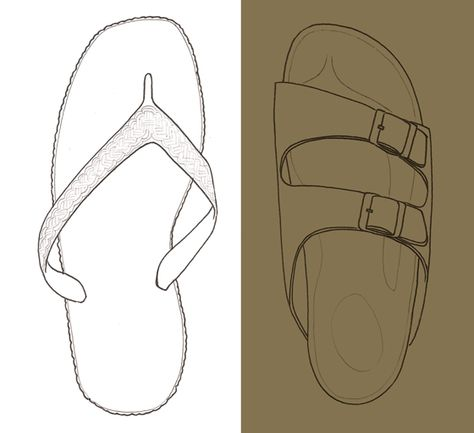 4f99870fbb9a92 Flip-flop La Sarraizienne vs Birkenstock illustrated by Isabelle Oziol de  Pignol