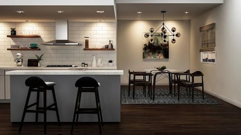 Classic open kitchen and dining room ideas for the house