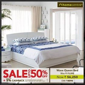 Sale Upto 50 Off Wave Queen Bed Now Rs 56250 With Images