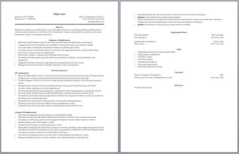 Contract Administrator Resume Administrative Resume Samples - entry level esthetician resume