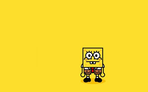 HD wallpaper: SpongeBob Squarepants, minimalism, simple background, yellow