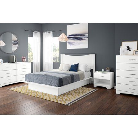 South Shore Step One Full//Queen Headboard Pure White 54//60/'/'