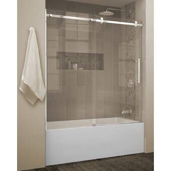 33 5 X 70 Hinged Frameless Tub Door With Clearshield Technology