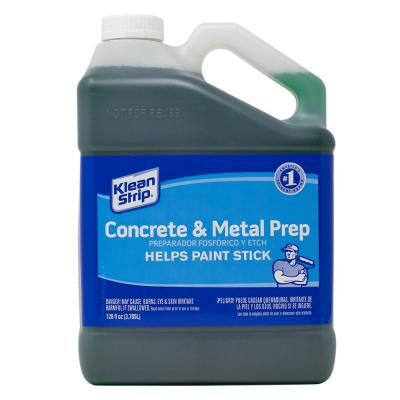 Klean Strip 1 Gal Concrete Etch Metal Prep Rust Inhibitor Gkpa30220 The Home Depot In 2020 Metal Etching Concrete Remove Oil Stains