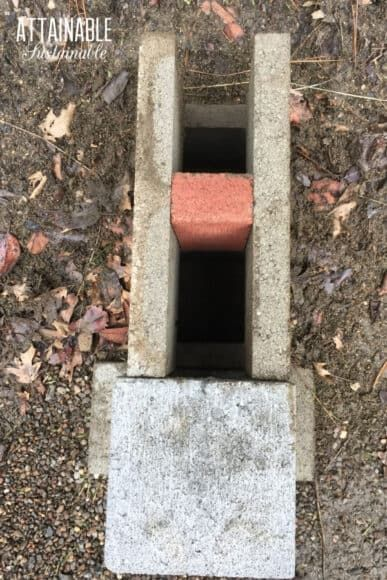 Build A Rocket Stove From Concrete Blocks Rocket Stoves