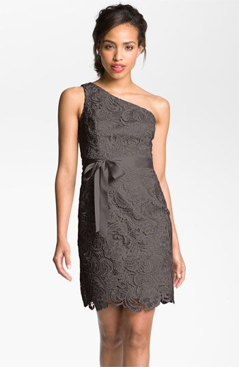 Adrianna Papell Lace One Shoulder Sheath Dress available at Nordstrom