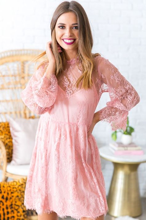 Garden Party Lace Babydoll Dress In Pink 39 Stay Lovely In