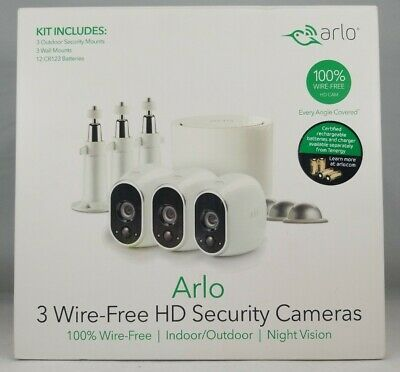 Arlo Vms3330w Security System 3 Wire Free Hd Security Camera Bundle 606449136777 Ebay Security Camera Best Security Cameras Security System