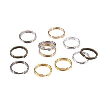 Open Jump Rings 200Pcs Split Ring Double Loops Connectors Jewelry Finding Making