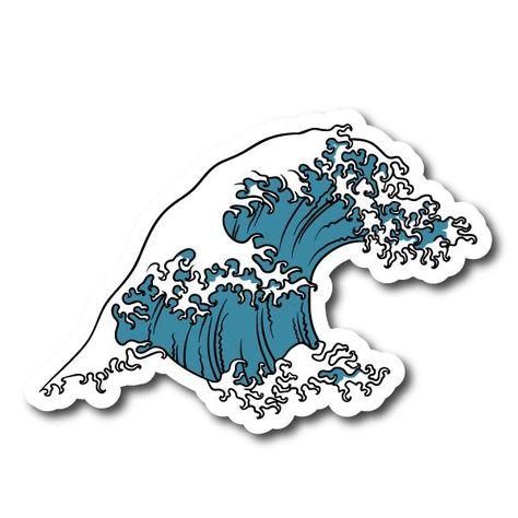 Japense Tsunami Wave Symbol Vinyl Sticker - #Japense #Sticker #symbol #Tsunami #Vinyl #Wave