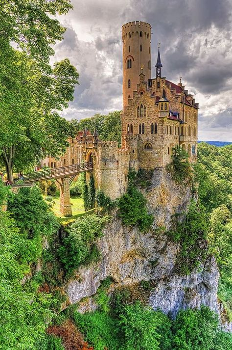 Lichtenstein Castle (HDR)Honau, GermanyCell phone Wallpaper / Background re-sizeable for all cells phones.