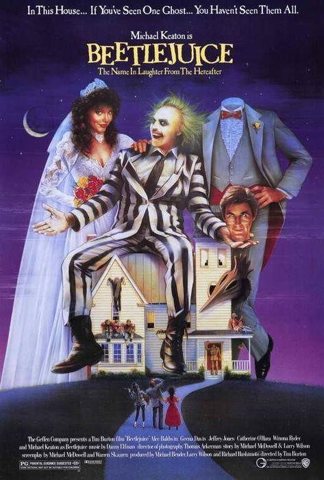 Beetlejuice Movie Poster 27 X 40 , Michael Keaton, Geena Davis, A, Licensed