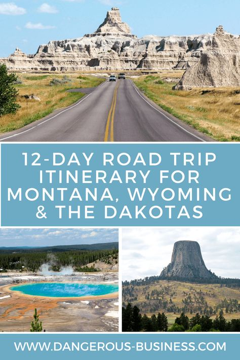 A Road Trip Itinerary for Montana, Wyoming, and the Dakotas R. - A Road Trip Itinerary for Montana, Wyoming, and the Dakotas Road Trip Itinerary: - Road Trip Usa, Family Road Trips, Family Travel, Summer Road Trips, Road Trip National Parks, Usa Trip, Best Road Trips, New Mexico Road Trip, Badlands National Park
