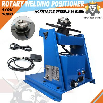 """10KG Rotary Welding Positioner Turntable Table Mini 2.5/"""" 3 Jaw Lathe Chuck"""