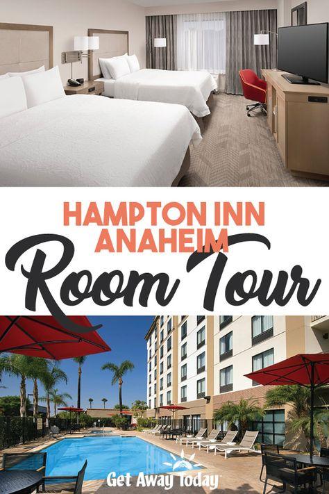 Hampton Inn Anaheim Room Tour Hotels Near Disneyland Room Tour Hampton Inn