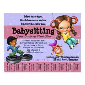 Copy Of Babysitting Flyer Template  Babysitting
