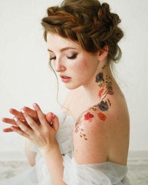 Wedding Hairstyles for Every Hair Type - Tattoo Women - .- Hochzeitsfrisuren für jeden Haartyp – Tattoo Frauen – … Wedding hairstyles for every hair type tattoo women -