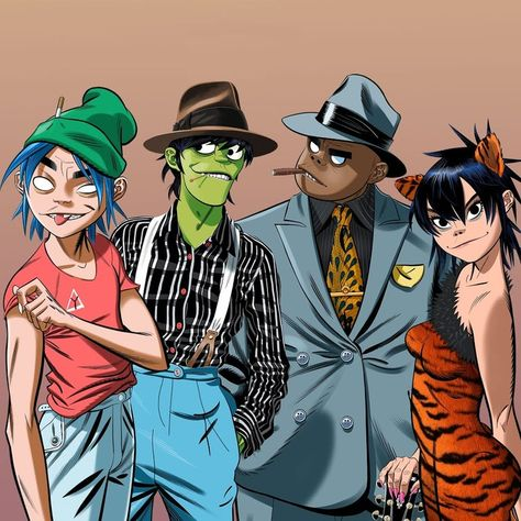 Here is a place where I will post all of the official Gorillaz art. I claim none of this art and it is all created by Jamie Hewlett. I will NOT be posting any fan art (including edits). Russel Gorillaz, Gorillaz Fan Art, Murdoc Gorillaz, Gorillaz Noodle, Jamie Hewlett Art, Powerpuff Girls Villains, Monkeys Band, Damon Albarn, Art Archive
