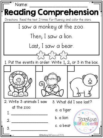 Free Kindergarten Reading Comprehension Set 3 Kindergarten Reading Worksheets Reading Comprehension Kindergarten Free Kindergarten Reading