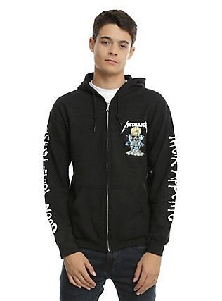 Metallica And Justice For All Appetite Hoodie, BLACK