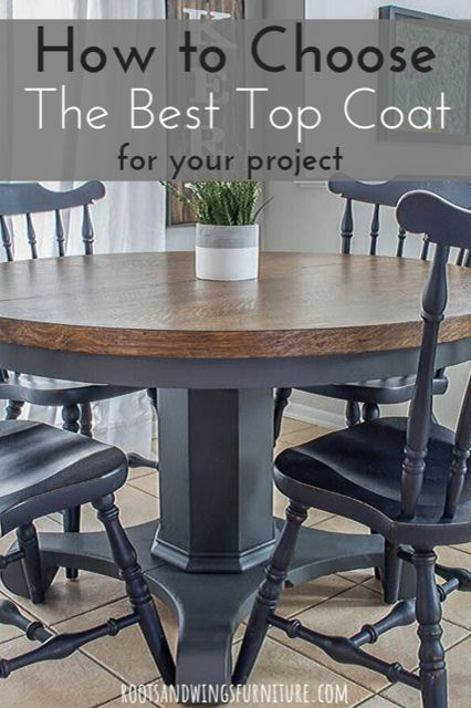 Let S Talk Topcoats Applying The Right Topcoat Can Make Or Break The Whole Project Click Through To See M Refurbished Table Kitchen Table Makeover Home Decor