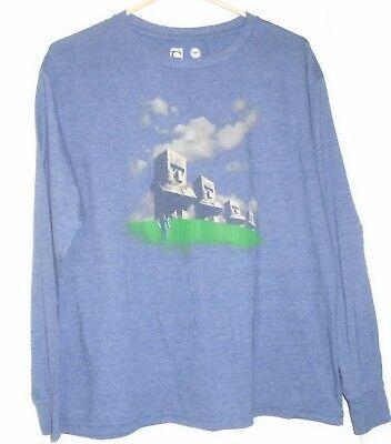 MOJANG Minecraft Boys/' Long-Sleeve Graphic T-Shirt Grey, Small, Medium, Large