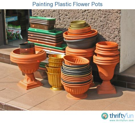 This is a guide about painting plastic flower pots. You can brighten up your potted plants and give new life to faded plastic pots by painting them.