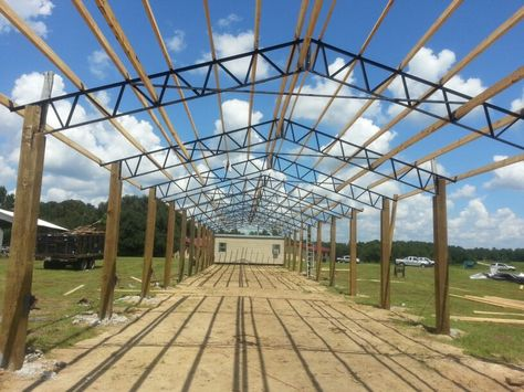 Bailey Barns Steel Truss Pole Barns #florida #georgia #polebarnkit #install #diy