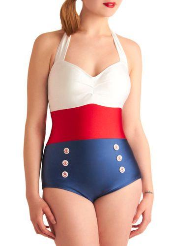 Sailor Una Pieza Trajes De Bano Vintage Trajes De Bano Retro