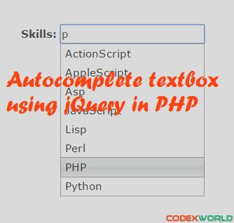 Autocomplete Textbox using jQuery, PHP and MySQL | PHP & jQuery