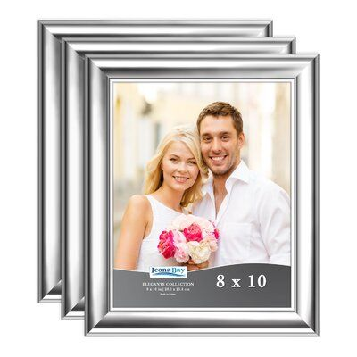 Icona Bay Elegante Picture Frame Colour Silver Picture Size 8 X 10 8x10 Picture Frames Gold Photo Frames Picture Frame Colors