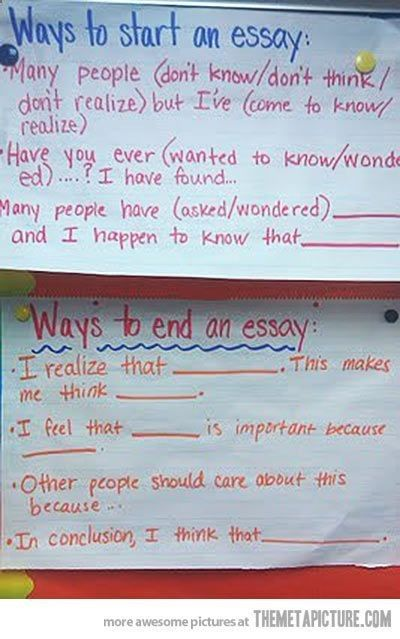 How To Start An Essay Or End One Image Only Essay Writing Essay Writing Skills Creative Writing Topics