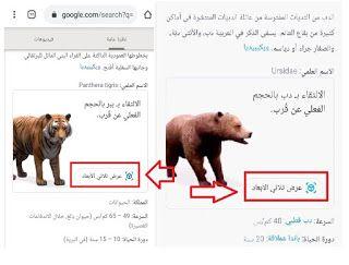 كيفية التصوير مع حيوانات ثلاثية الأبعاد View In 3d كيف أرى الحيوانات ثلاثية الأبعاد على Google تصوير مع حيوانات ثلاثية الأبعاد Vi Animals Google Google Search