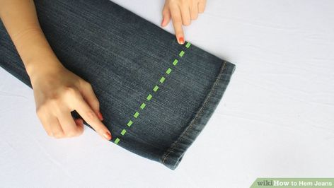 3 Ways to Hem Jeans - wikiHow