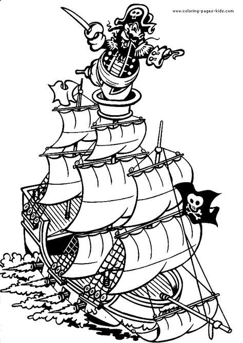Pirate Ship Color Page Pirate Coloring Pages Mermaid Coloring Pages Coloring Pages To Print