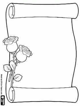 parchment decorated with flowers | Valentýn | Mothers day ...