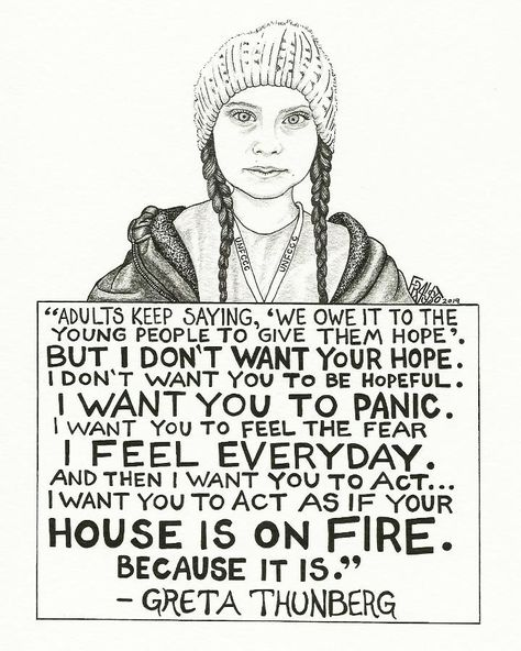 Greta Thunberg Drawing - 6