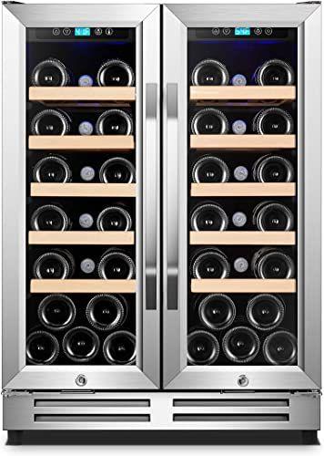New Karcassin Wine Cooler Refrigerator Compressor Wine Chiller Dual Temp Zones Wine Fridge Red White Stores Upto 36 Bottles Silent Low Vibrations Fr In 2020 Wine Fridge Wine Chiller Wine Cooler