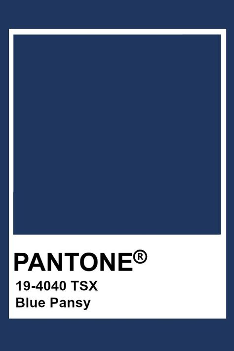 Pantone Blue Pansy