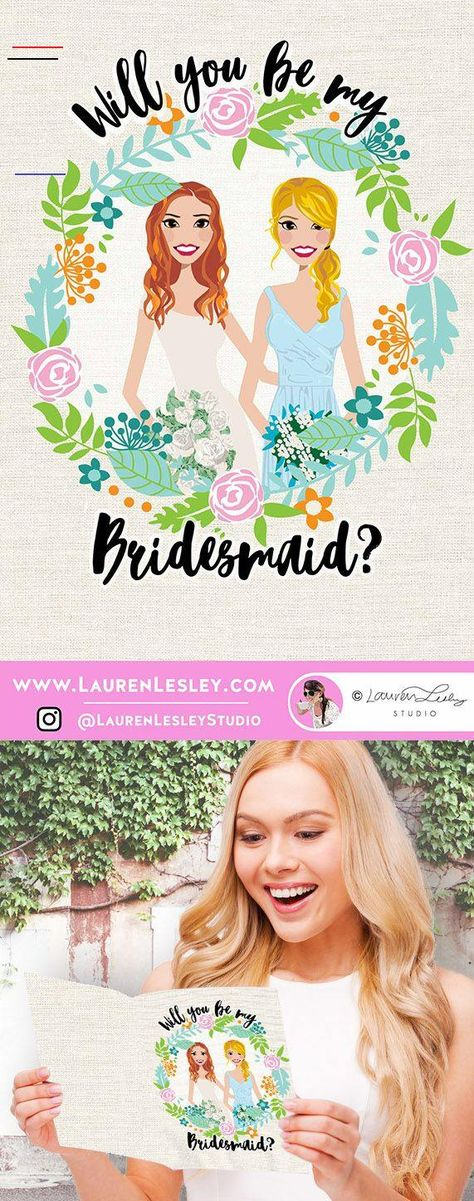 Will You Be My Bridesmaid Card | Printable DIY Modern Bride and Bridesmaid Note | Simple Calligraphy Will You Be My Bridesmaid Card | Messages for Bridesmaid Card | Ideas for Asking Bridesmaids | Template for Will You Be My Bridesmaid Card #bridesmaids #willyoubemybridesmaid<br> Awesome way to ask your best friends to be your bridesmaid or maid of honor!   ........................... HOW TO ORDER: ........................... 1.)  Purchase this listing with the correct # of designs you need.  It