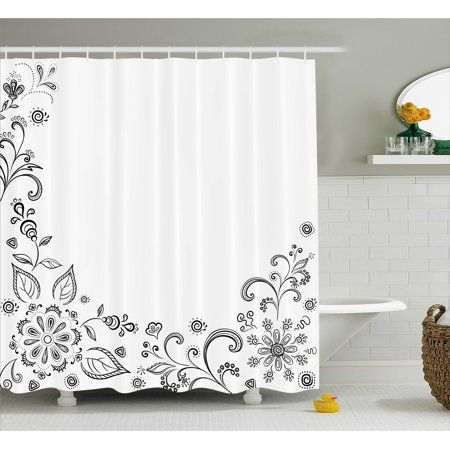 Home White Shower Bathroom Sets Fabric Shower Curtains