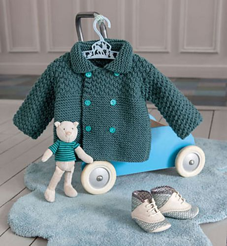 Ravelry: Veste Layette pattern by Editions Marie-Claire - Phildar aran month free